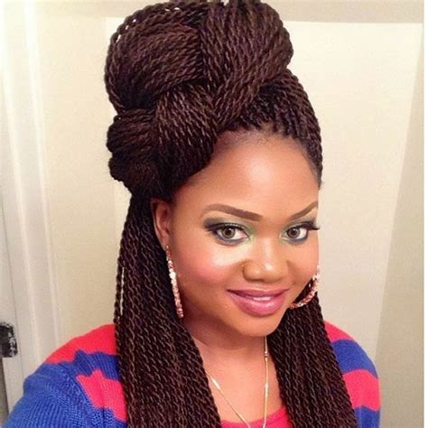Twists Updo Hairstyles by 29 Senegalese Twist Hairstyles For Black Stayglam