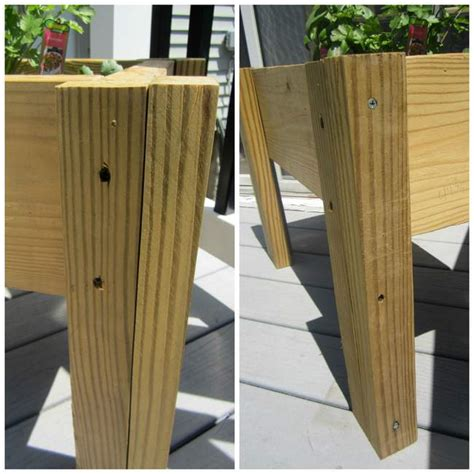How To Build A Planter Box With Legs by Scrap Wood Planter Box Pretty Handy