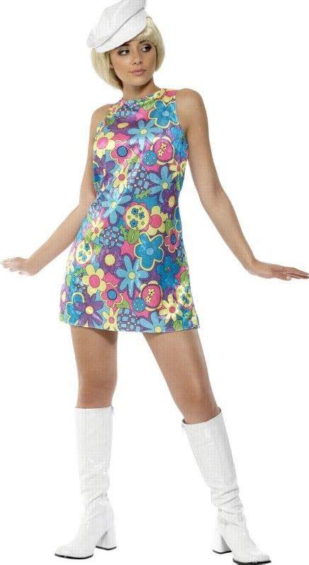 girls flower power hippie costume halloweencostumescom 1960 s sex bomb costume retro girl outfit blue flower