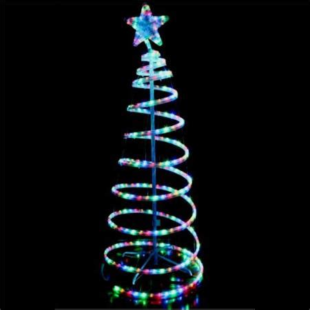 5 foot spiral rope light christmas tree flashing outdoor led multi colour rope light 3d spiral tree 1 5 metres