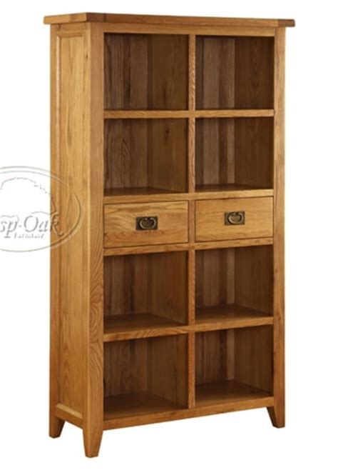 Oak Bookcase With Drawers by Vancouver Oak Bookcase With 2 Drawers Oak Furniture
