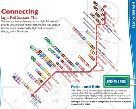 cities light rail map jerusalem light rail map