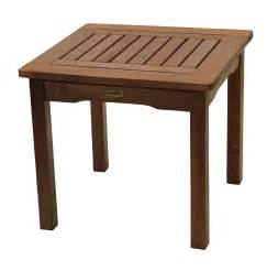 Small Outdoor Patio Table All Weather End Table Eucalyptus Easy Assembly Garden Furniture Outdoor Indoor Ebay