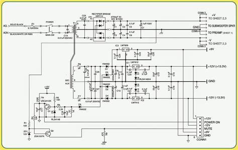 circuit diagram bass 550 jbl powered subwoofer schematic circuit