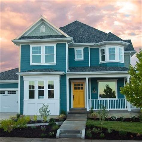 blue house yellow door blue house with yellow door front doors pinterest