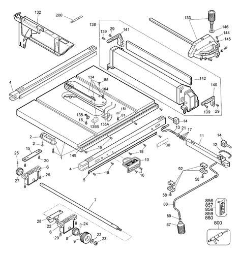 dewalt table saw parts buy dewalt dw744 type 2 10 quot table saw replacement tool