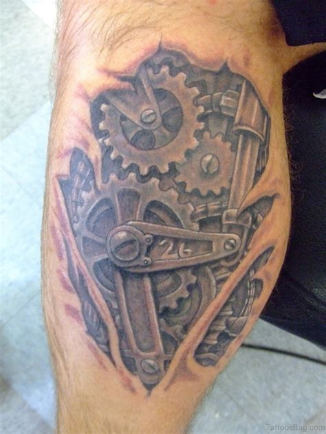 mechanical leg tattoo designs 70 mind blowing leg tattoos