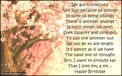 Happy Birthday Wishes For Siblings Birthday Poems For Brother Wishesmessages Com