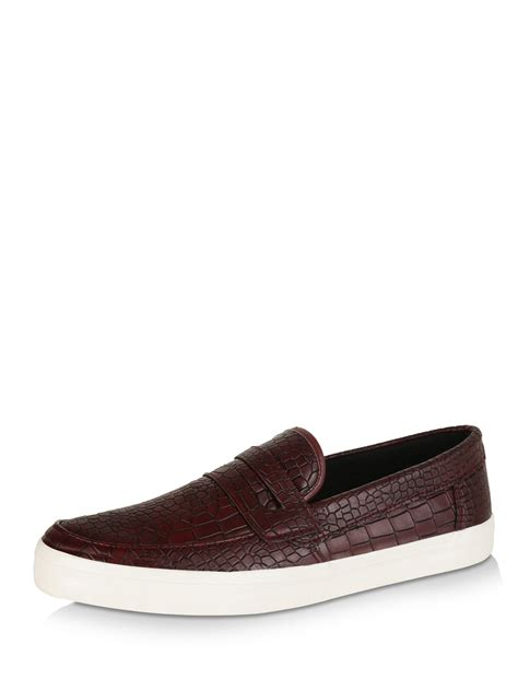 loafers new look buy new look snake print casual loafers for s