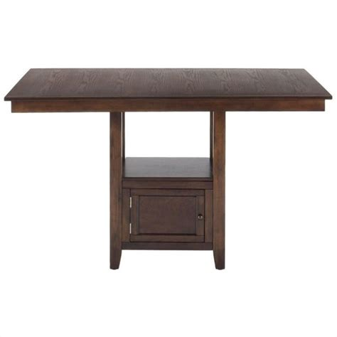 jofran counter height table jofran counter height rectangle dining table in oak