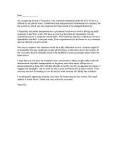 Complaint Letter For Company Transport Transportation Complaint Letter