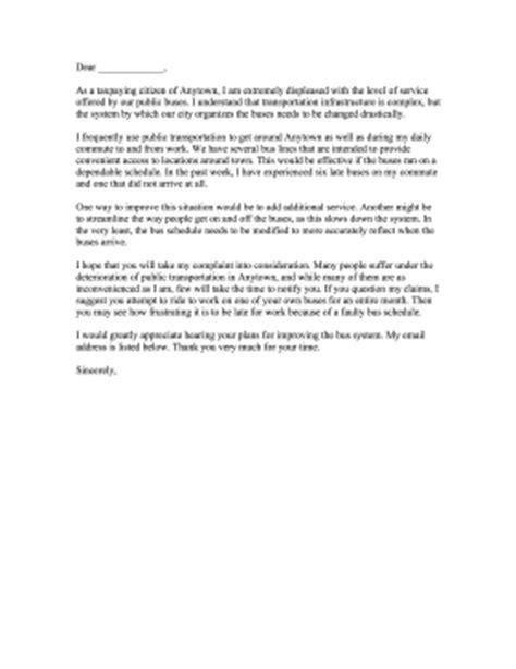Complaint Letter Coach Service essay ways to improve services