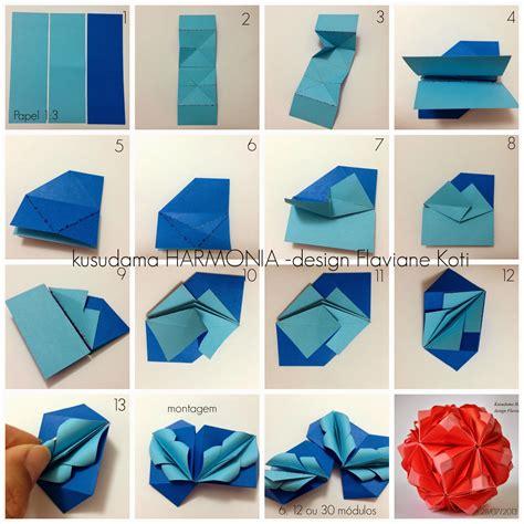 Do Origami - kusudama harmonia design flaviane koti terapia do papel
