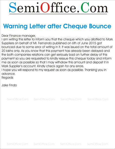 Complaint Letter To Bank For Bounced Cheque Dishonoured Cheque Letter Before