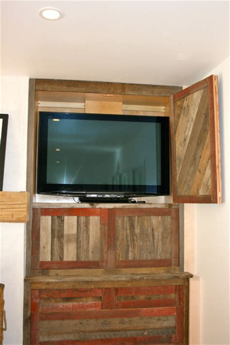 barnwood cabinets houzz reclaimed barnwood cabinet and mantle eclectic family