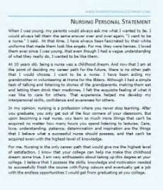 Exles Of Nursing Essays by Sle Nursing Personal Statement That Will Help You Gain That Edge The Competitors