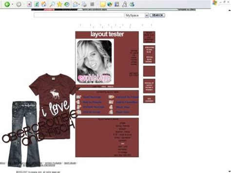 layout maker myspace skinney myspace layout generator