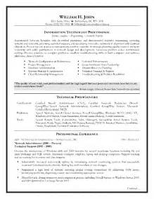 Sle Resume Of It Professional 28 sle resume for experienced testing professional 11 qa