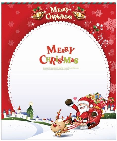 santa claus card template vector card with santa claus free vector in