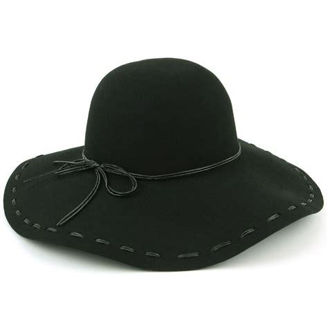 wide brim hat wool felt floppy cap cloche