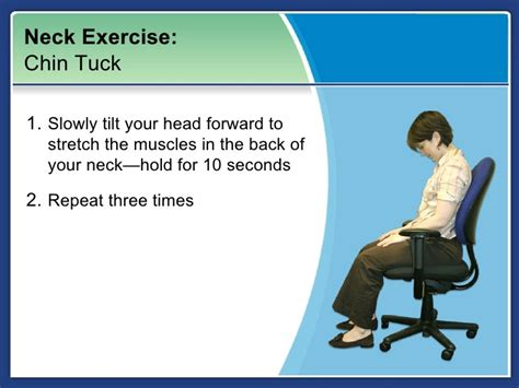 Neck Exercises At Your Desk by Neck Exercise At Your Desk Hostgarcia