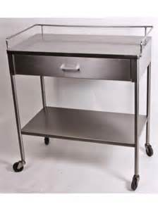 Metal Cart With Drawers Single Drawer Stainless Steel Hospital Instrument Cart