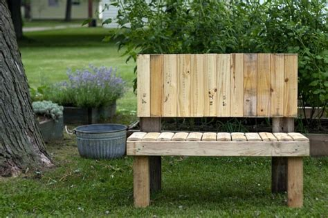 Rustikale Gartenbank Selber Bauen