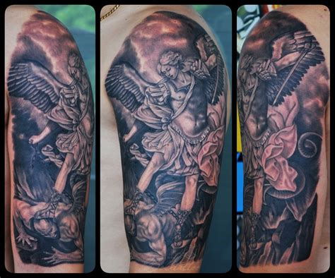 st michael the archangel tattoo by bokitattoo on deviantart