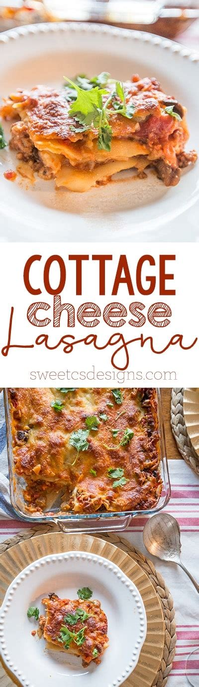 Cottage Cheese Lasagna Cottage Cheese Ricotta Lasagna