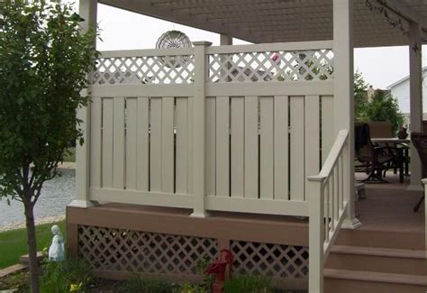 vinyl fence deck privacy deck  lockport il pool