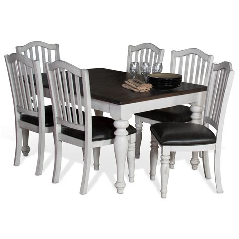 Extension Dining Table Set Designs Bourbon County 7 Extension Dining