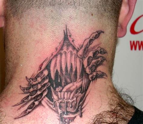 skin rip tattoo designs 17 sweet ripped neck tattoos