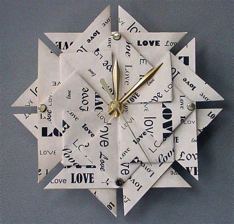 Anniversary Origami - 1st anniversary gift origami clock large