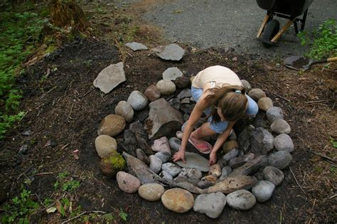 diy pit using rocks how to make a pit with rocks fireplace design ideas