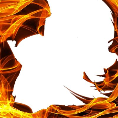 square fire flame png transparent