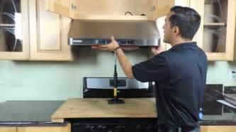 Installing Kitchen Cabinets Youtube under cabinet range hood installation new version youtube