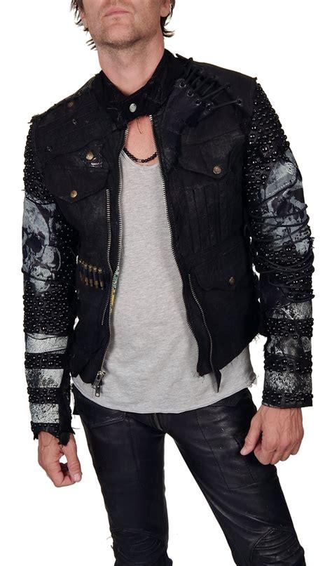 Tas Vintage Slop Stud Black s junker designs quot harlock studded jacket quot in black leather