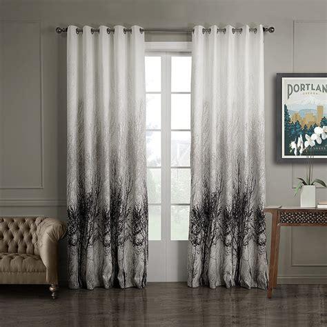print curtains panels 3qmart 2 panels jacquard print blackout window curtain
