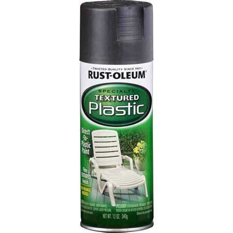spray paint plastics shop rust oleum specialty paint for plastic black textured
