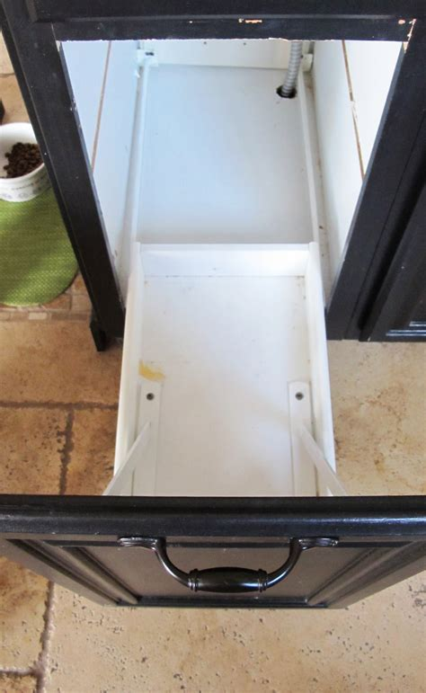 trash can drawer turn a door and a drawer into a pull out trash can