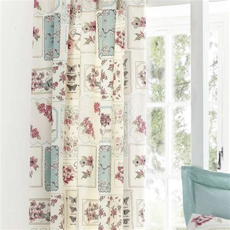 duck egg bird curtains duck egg birds patchwork floral birdcagethermal lined