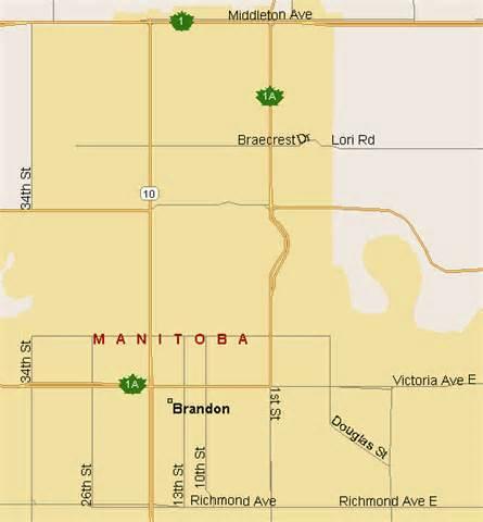 brandon map region manitoba listings canada