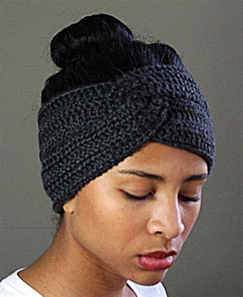 how to knit a headband with a twist twisted crocheted headband earwarmer go crochet