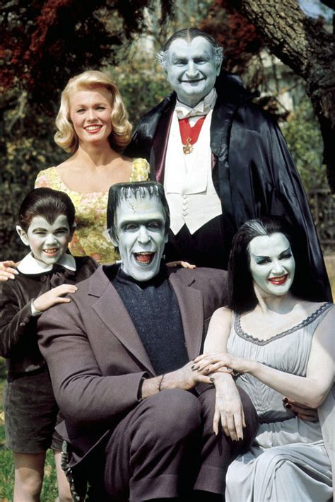 colors the cast the munsters color cast 36x24 poster print ebay