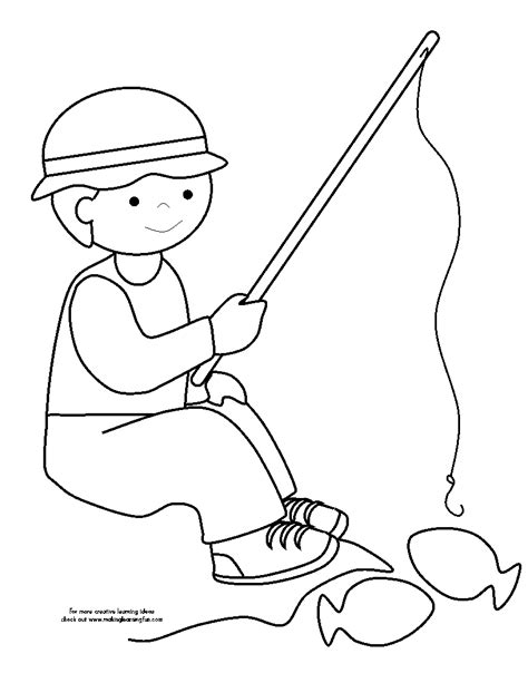 coloring page of little boy fishing 89 coloring pages boy fishing bluebonkers boy