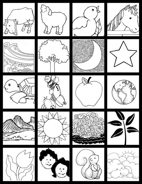 free coloring pages of day 6 creation