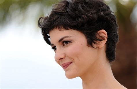 short hair poses audrey tautou photos photos andrey tautou poses at the