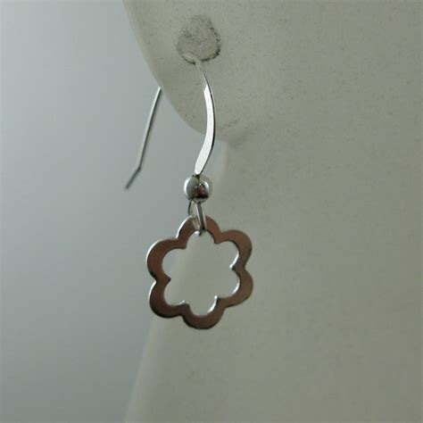 925 Sterling Silver Bead Earrings 925 sterling silver earrings flower charm