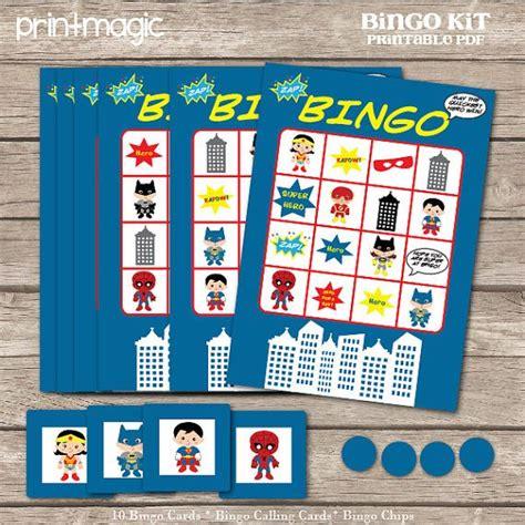 printable heroes download instant download heroes bingo printable party game