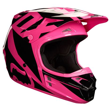 fox helmets motocross 2018 fox racing v1 race helmet pink sixstar racing